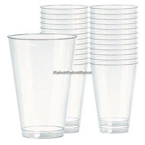Transparenta dricksglas i plast