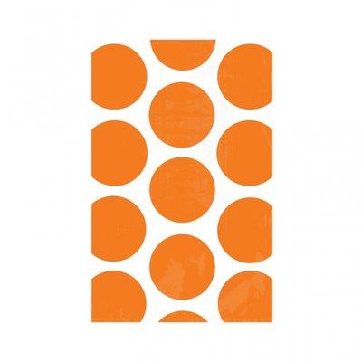 Godispåse med orange prickar - 10 st