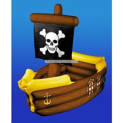 Uppblåsbart piratskepp dryck kylare - 104cm