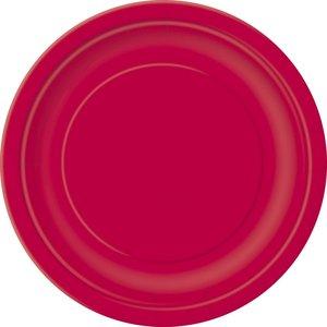 Röda tallrikar - 23 cm 16 st
