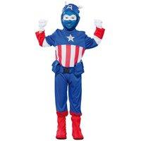 Kapten Blå maskeraddräkt för barn