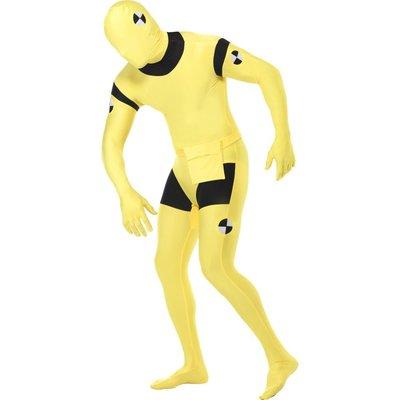 Second Skin-dräkt, krockdocka maskeraddräkt gul