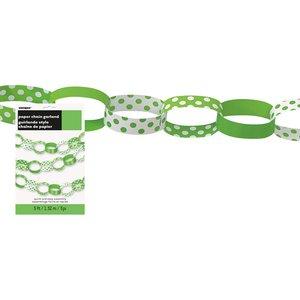 Grön prickig pappersgirlang - 1.5 m