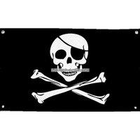 Piratflagga i tyg 1.5 m