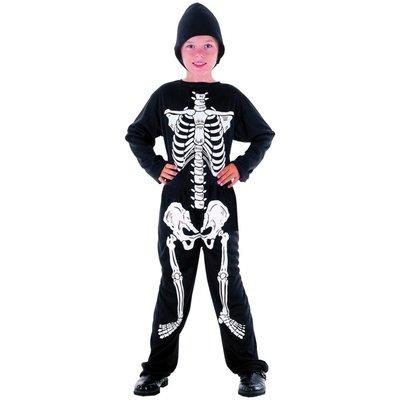 Skelett - maskeraddräkt barn