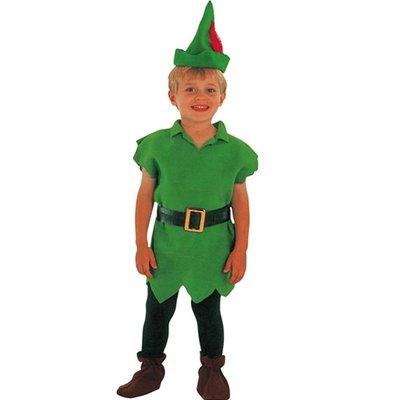 Robin Hood / Peter Pan maskeraddräkt 2-4 år
