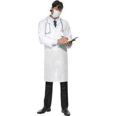 Läkare vit rock och mask