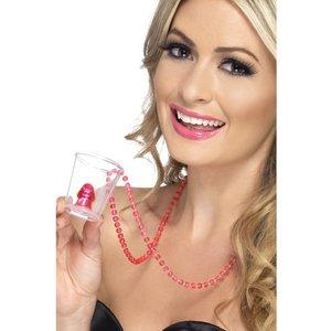 Shotglas i halsband med snopp