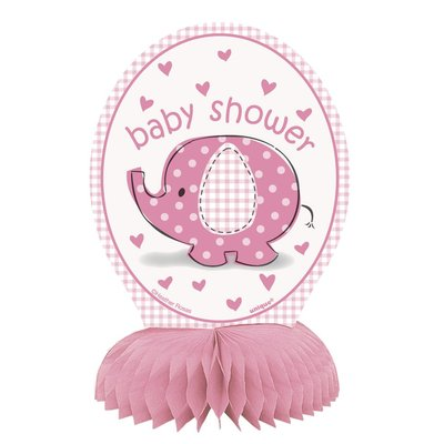 Bordsdekorationer - Baby shower rosa 4 st