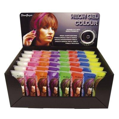 Hårgelé med neonfärger - Lyser i UV-ljus