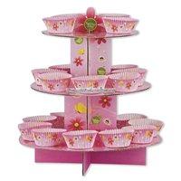 Rosa muffinsställ - 3 våningar