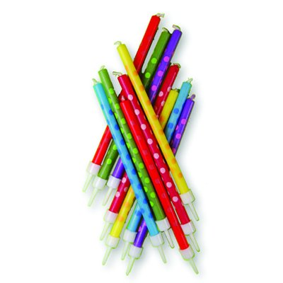 Prickiga Tårtljus - flerfärgade - 12 st