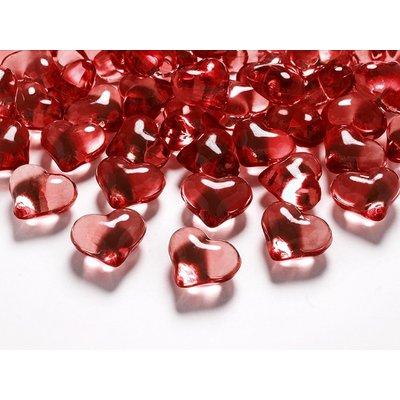 Kristalllhjärtan - Flera olika färger 21 mm
