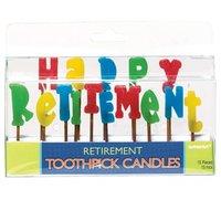 Happy Retirement tårtljus - 15 st