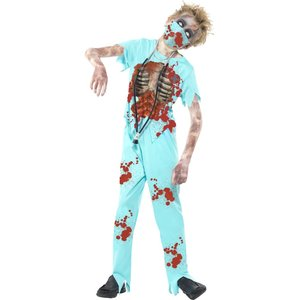 Zombie kirurg maskeraddräkt