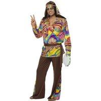 Psykedelisk hippie maskeraddräkt