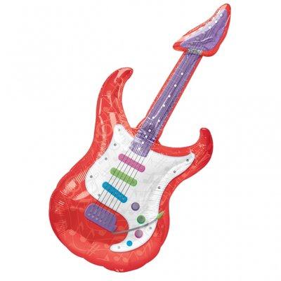 Gitarr superstor folieballong - 104 cm