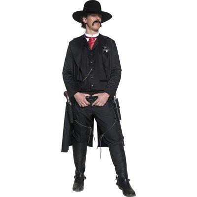 Autentisk Westernsheriff maskeraddräkt - Medium