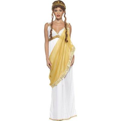 Sköna Helena av Troja maskeraddräkt, vit och guld