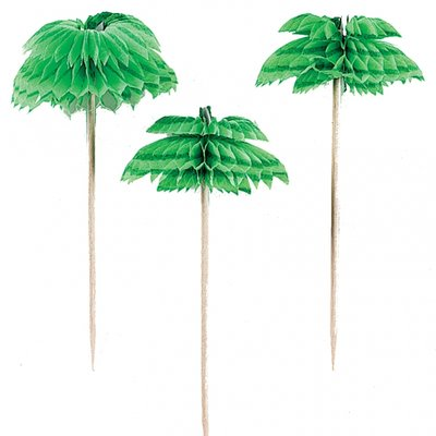 Palm dekorationer honeycomb-mönster - 12 st