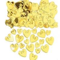 Söta hjärtan i guld bordskonfetti - 14 g