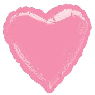 Folieballong - Hjärta Rosa 45 cm