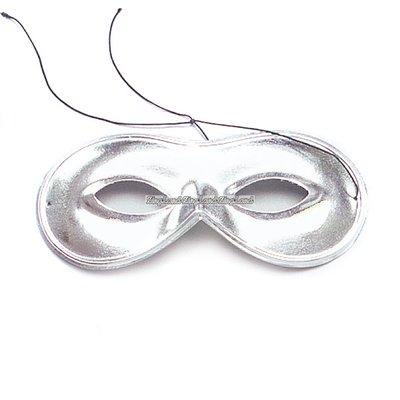 Domino små silverfärgade maskeradmasker