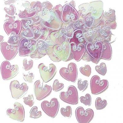 Bordskonfetti skimrande kärlekshjärtan - 14 g
