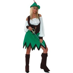 Robin Hood / Peter Pan  tjej maskeraddräkt