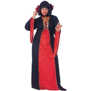 Goth vampyrtjej maskeraddräkt