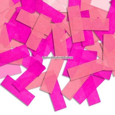 Pinatakonfetti - ljusrosa & rosa