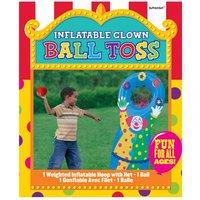 Uppblåsbart bollkastningsspel för utomhusbruk