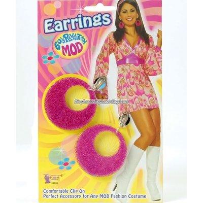 Glittriga rosa Mods örhängen