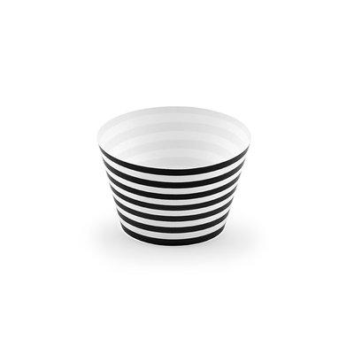 Cupcakeformar - Svartrandiga 6 st