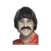 1970-tals Mersey peruk & mustasch
