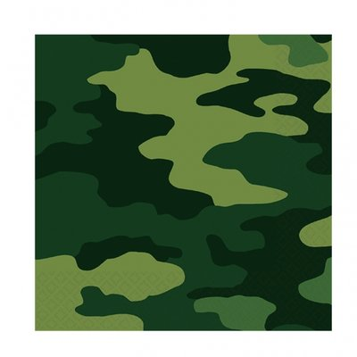 Camouflage Pappersservetter 2-lagers - 16 st