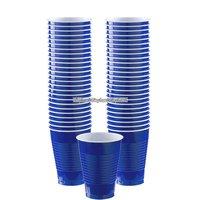 Mörkblå plastmuggar