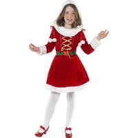 Jultomte maskeraddräkt liten tjej