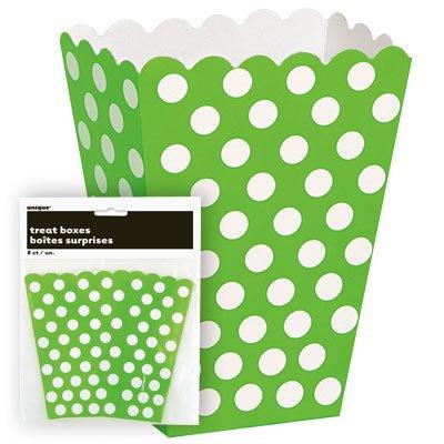 Grön prickiga popcornbägare - 8 st