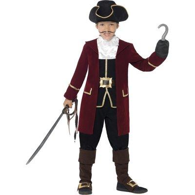 Deluxe Pirat kapten barn maskeraddräkt