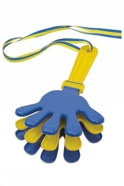 Handklappra blå/gul