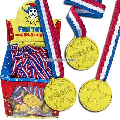 Plastmedaljer - 120 st
