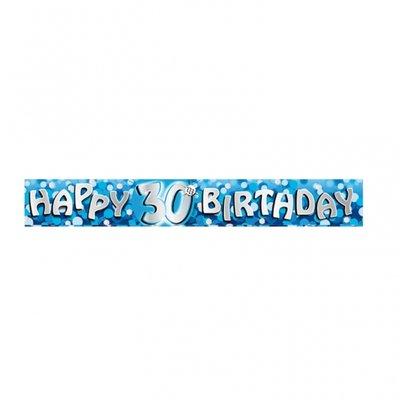 Födelsedagsbanderoll för blå 30-årsdagen - 2,7m