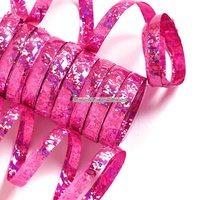 Holografiska rosa serpentiner