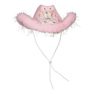 Cowboyhatt rosa