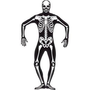 Självlysande skelett Second Skin maskeradräkt