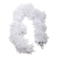 Fjäderboa fluffig- Vit