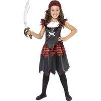 Goth-pirat maskeraddräkt för barn