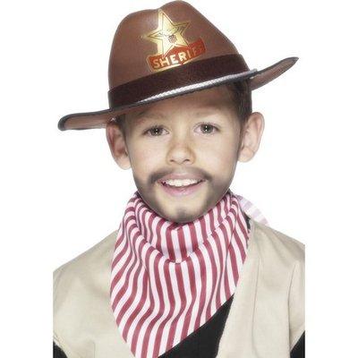 Cowboyhatt brun barn