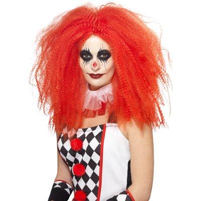 Vågig clownperuk